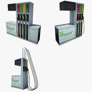 petrol pump 01 3d max