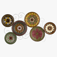 3d scattered italian plates wall
