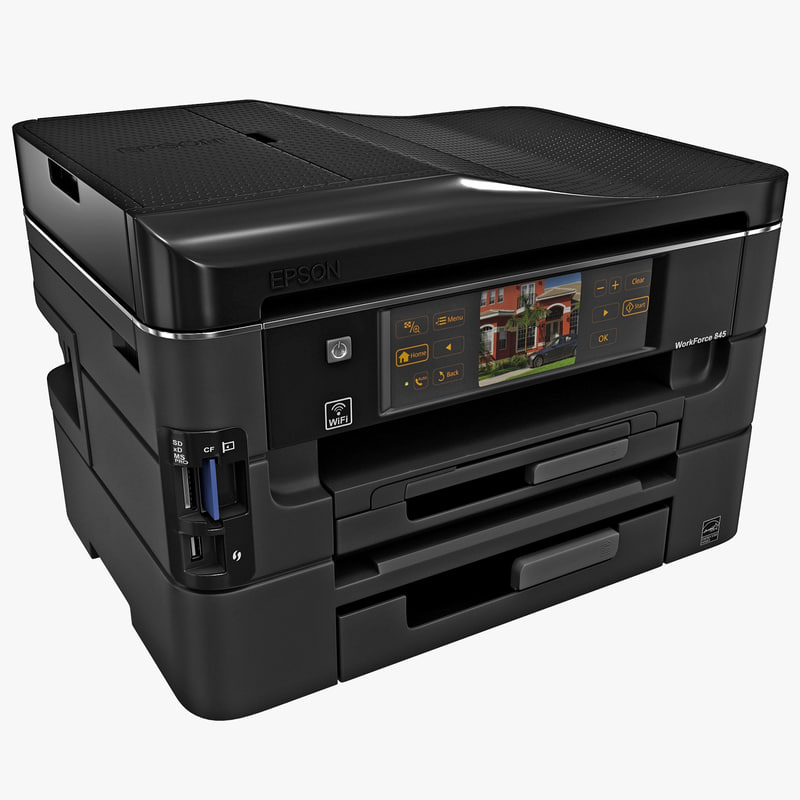 3d model wireless printer epson workforce
