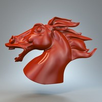3ds horse statue torso