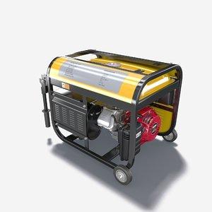 portable electric generator 3d model