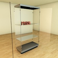 glass showcase display cabinet architecture 3d model