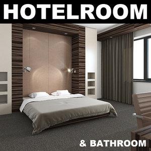 3ds max hotelroom bedroom