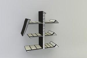 bookshelf book 3d model