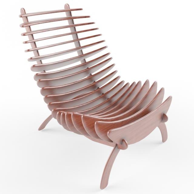 3d fishbone chair design model