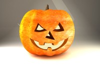 3d model pumpkin lighting
