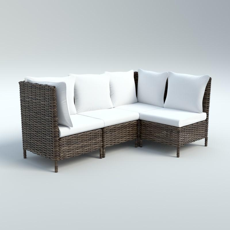 maya outdoor wicker sofa chair