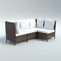 maya outdoor wicker sofa chair