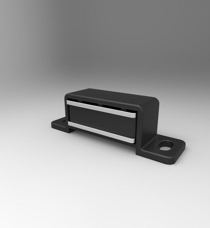 3d model cupboard magnetic catch