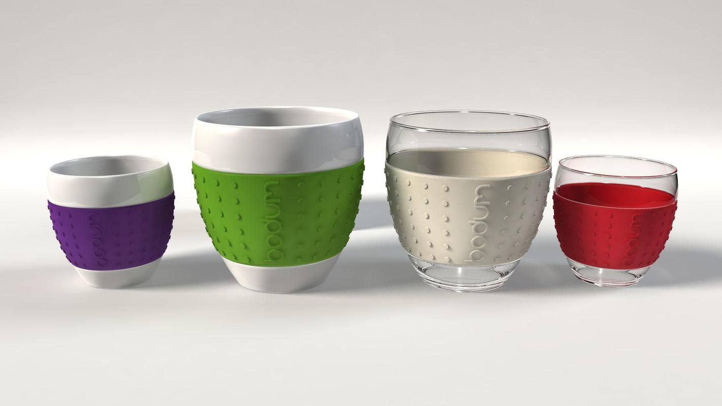 cup bodum pavina 3d obj