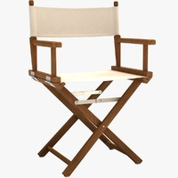 3ds white director chair