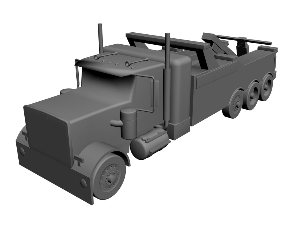 3d heavy duty tow truck model