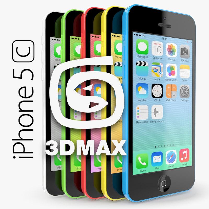 3dsmax apple iphone 5c
