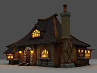 house world warcraft 3d model