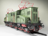3ds max prussian electric locomotive