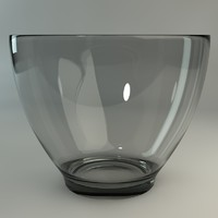 free c4d mode glass bowl
