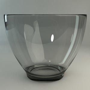 free c4d mode glass bowl