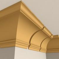 3d model interior cornice molding