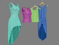 3d clothes dress t-shirt model