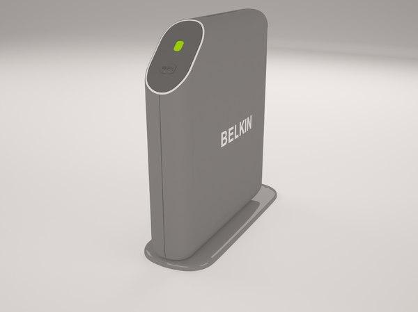 3d belkin playmax router