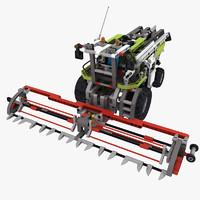 3d model lego technic combine harvester