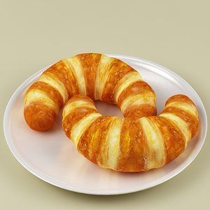3ds max croissant