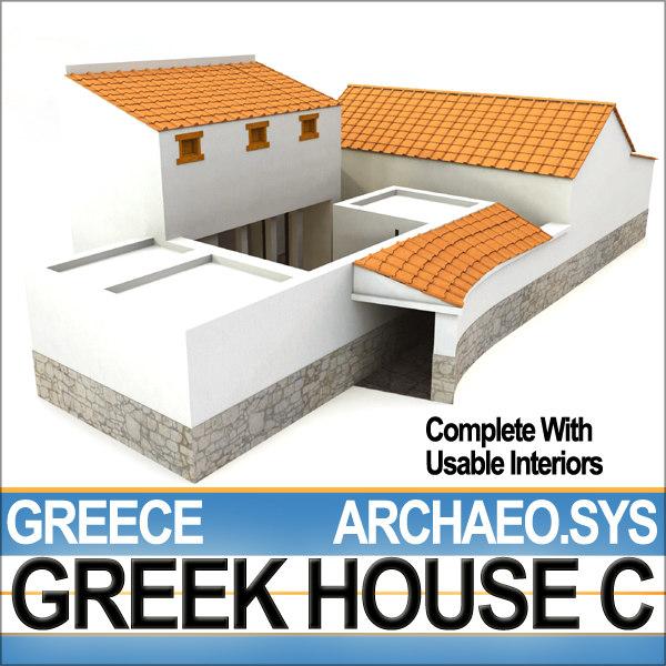 Greek house 3d model