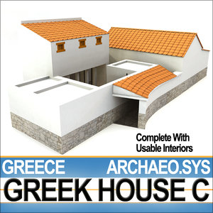 ancient greek house c 3d model