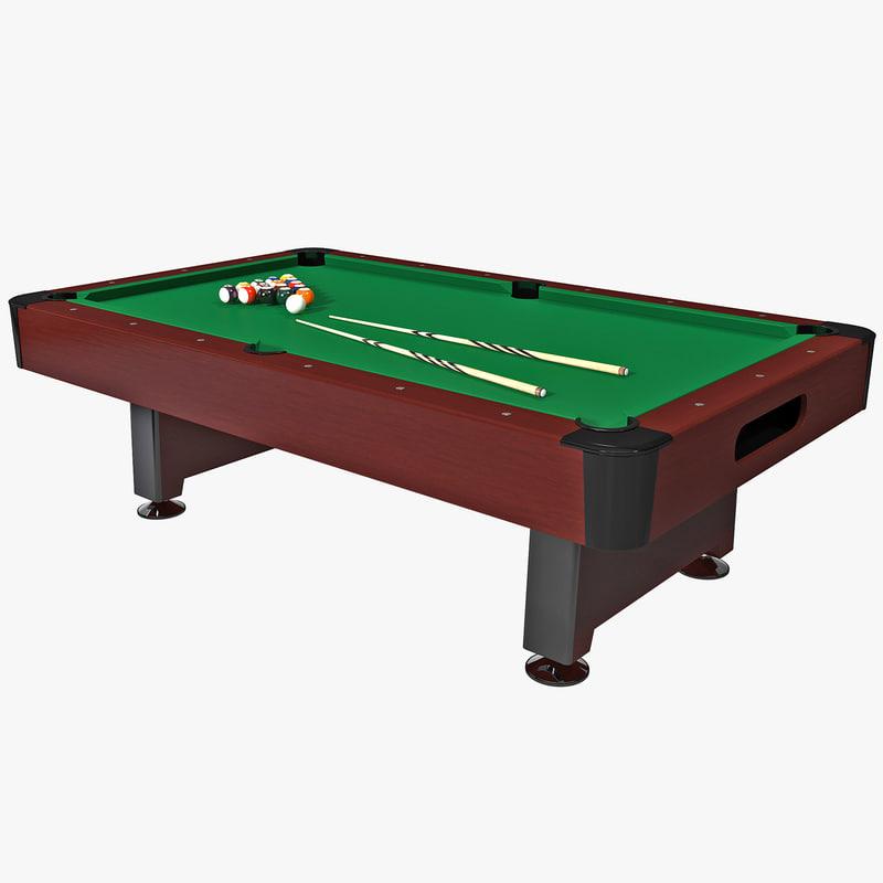 billiard table 3 3d 3ds