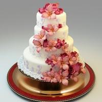 3d wedding cake 02