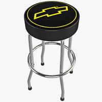 3d chevy garage stool design
