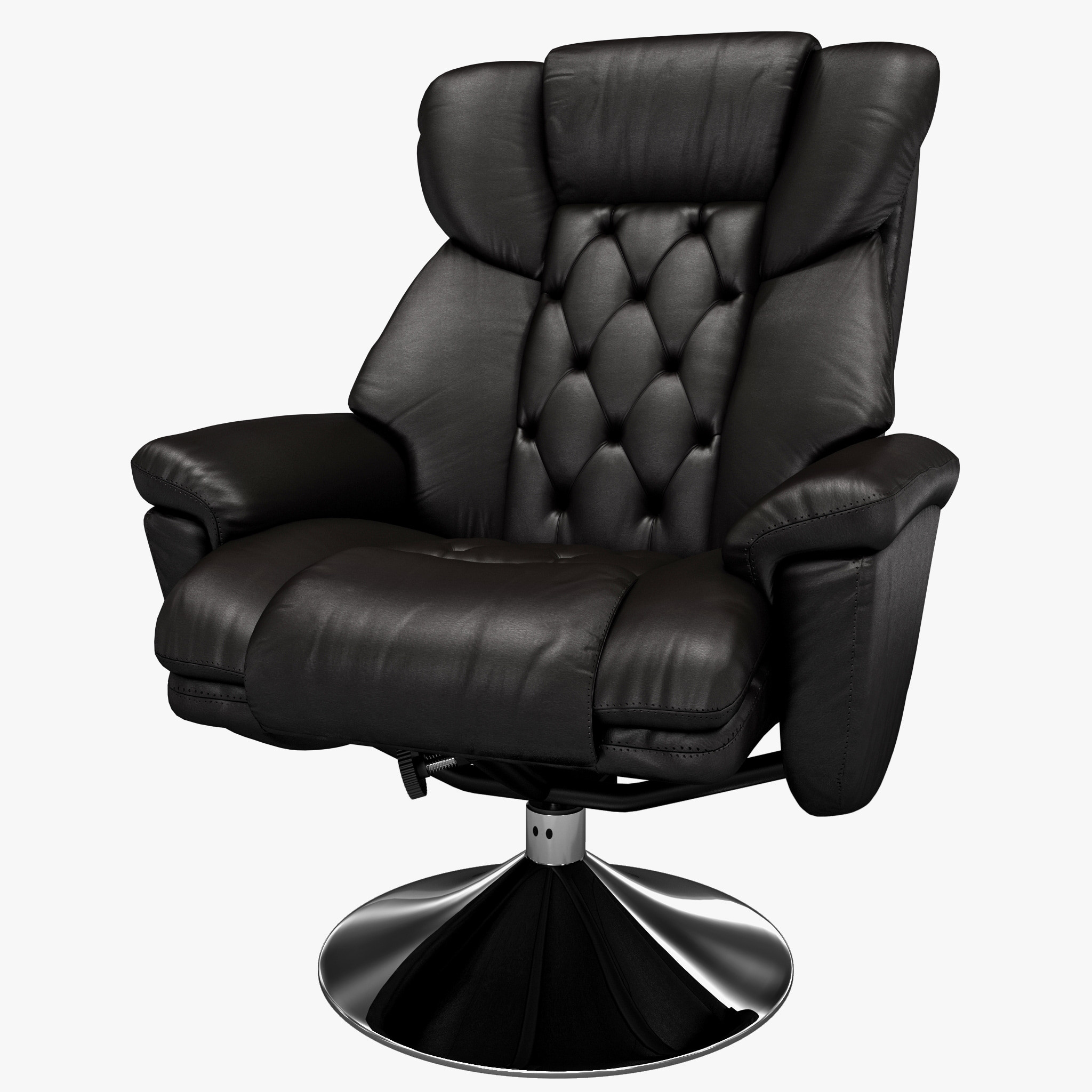 3ds max deluxe leather recliner chair for Chair design 3ds max