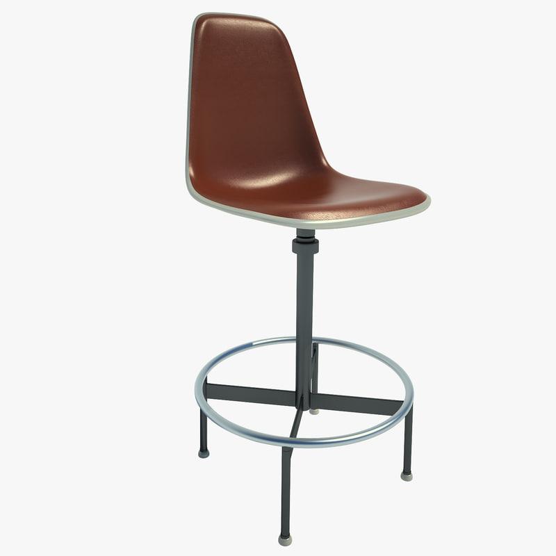 drafting chair eames 3d model