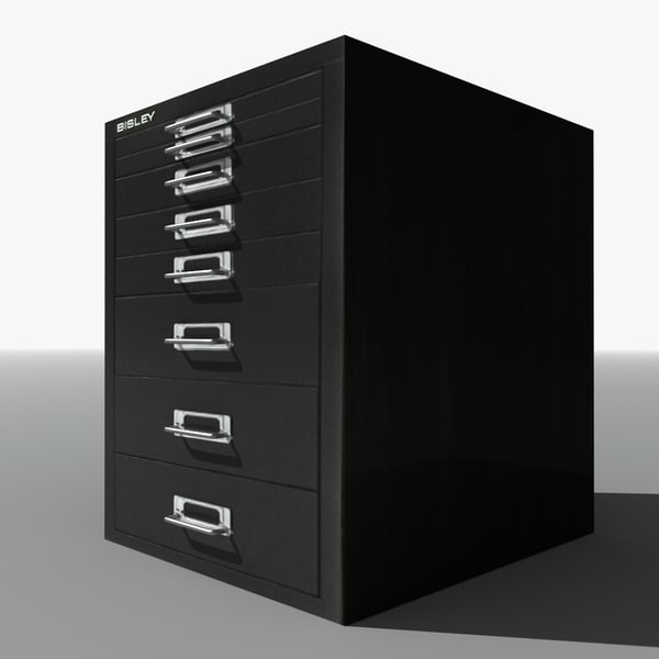 3ds max bisley filing cabinet drawers