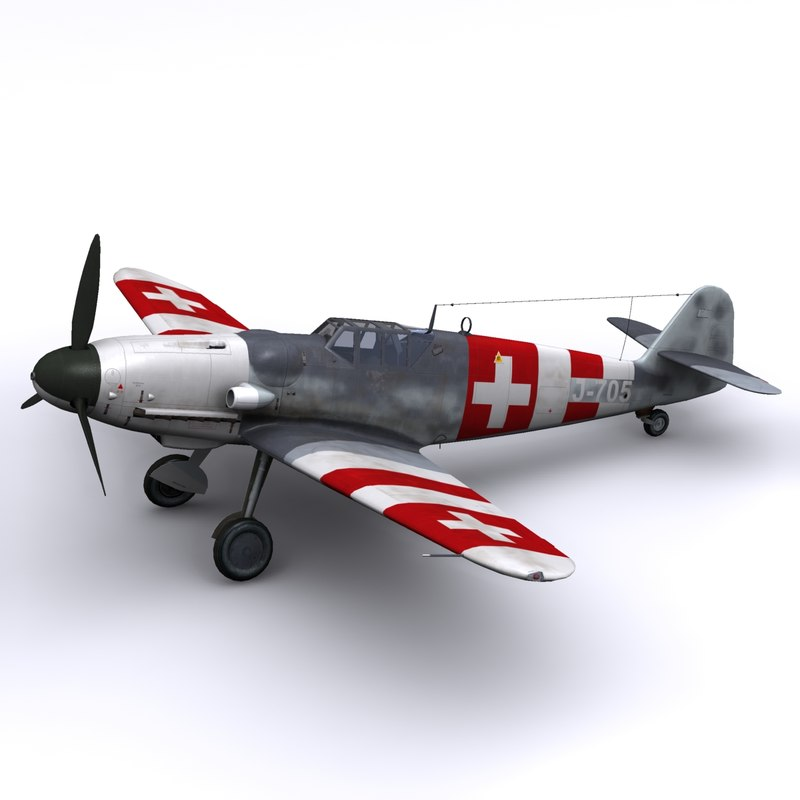 german fighter swiss 3d model