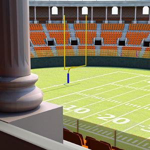 3d model football stadium harvard