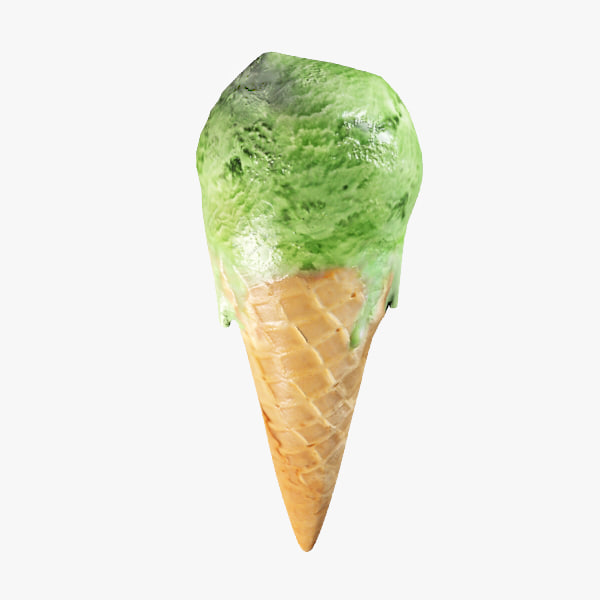 3d model mint ice cream