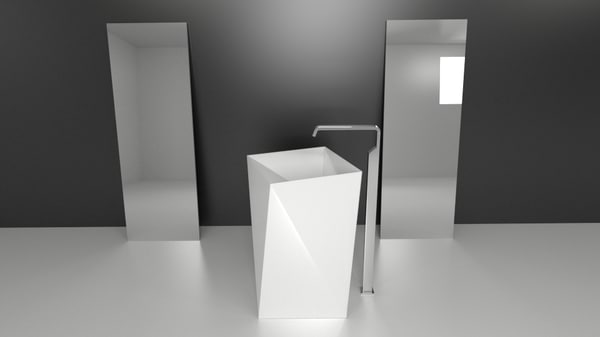 3ds contemporary washbasin