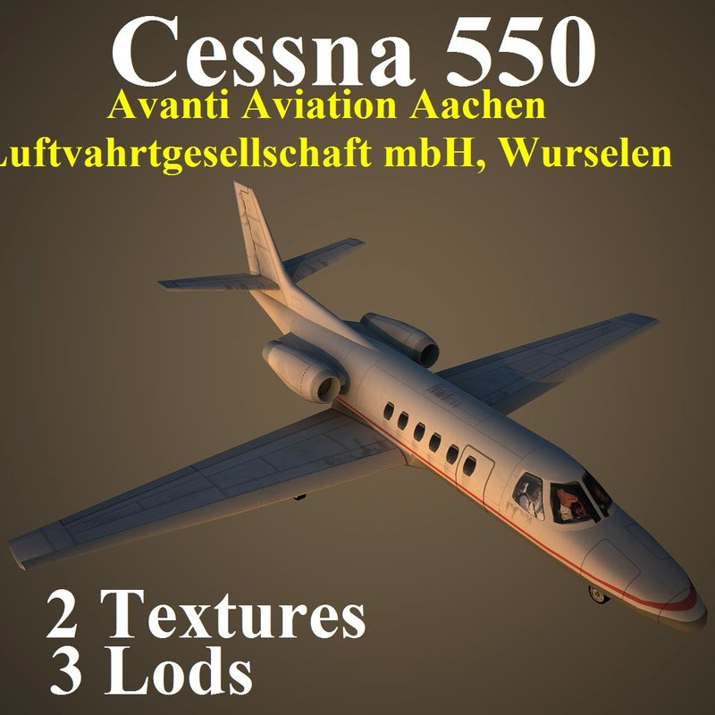 3d cessna 550 clu model