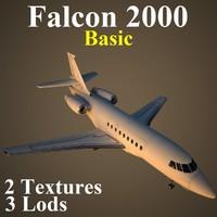 3d dassault falcon basic