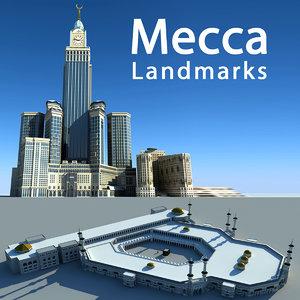 building masjid al-haram 3d model