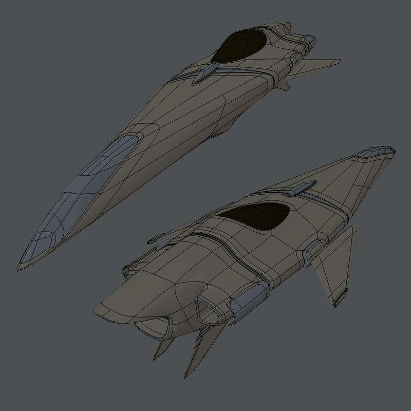 3d model light cruiser naginata togi