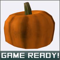 3d model autumn pumpkin 7