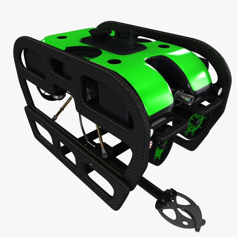 3d submarine rov model