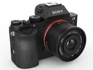3d sony alpha 7r camera lens model