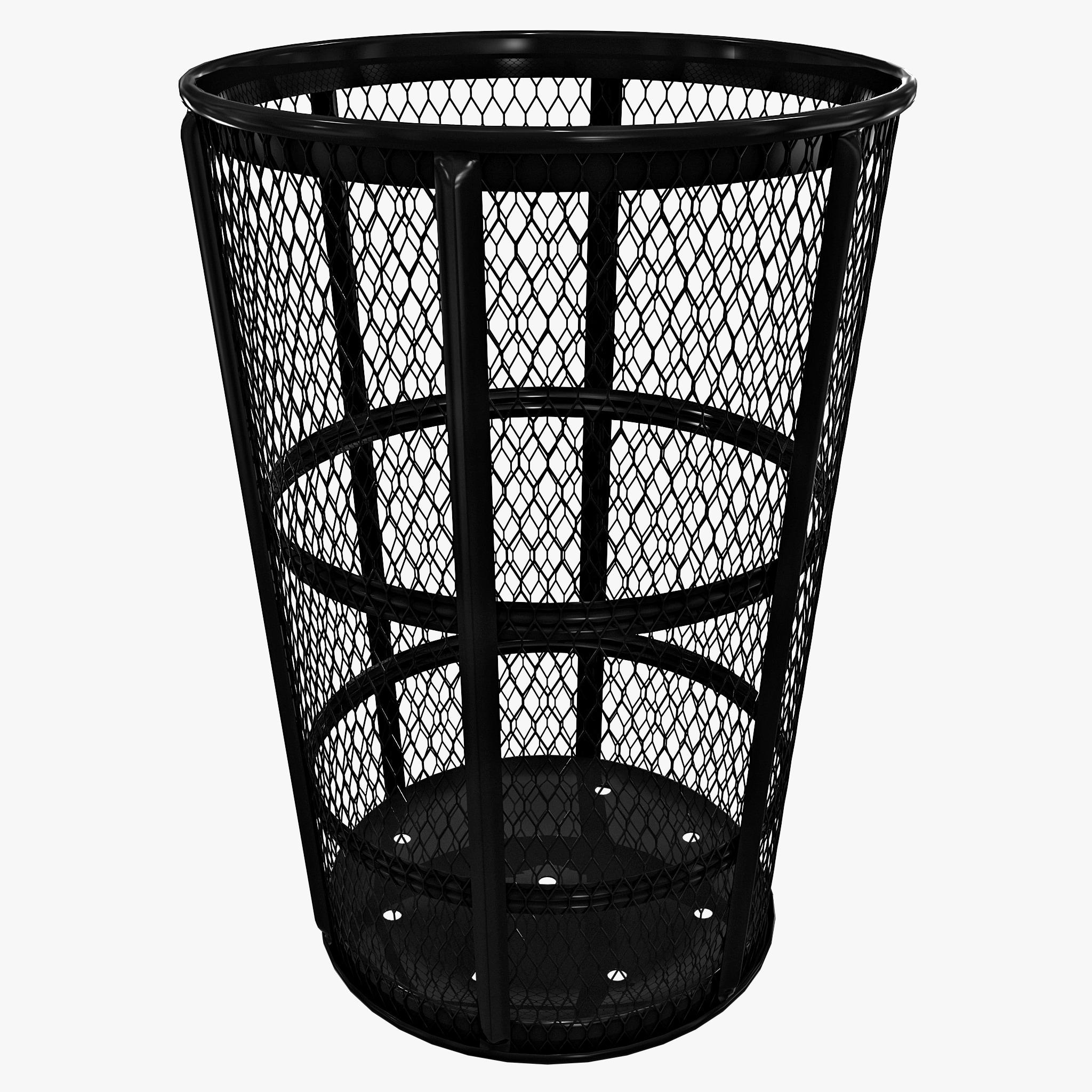 3ds street basket waste receptacle