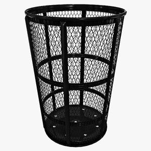 3ds street basket waste receptacle