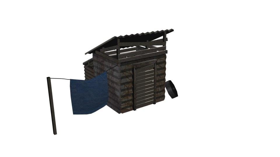 free structure slum 3d model