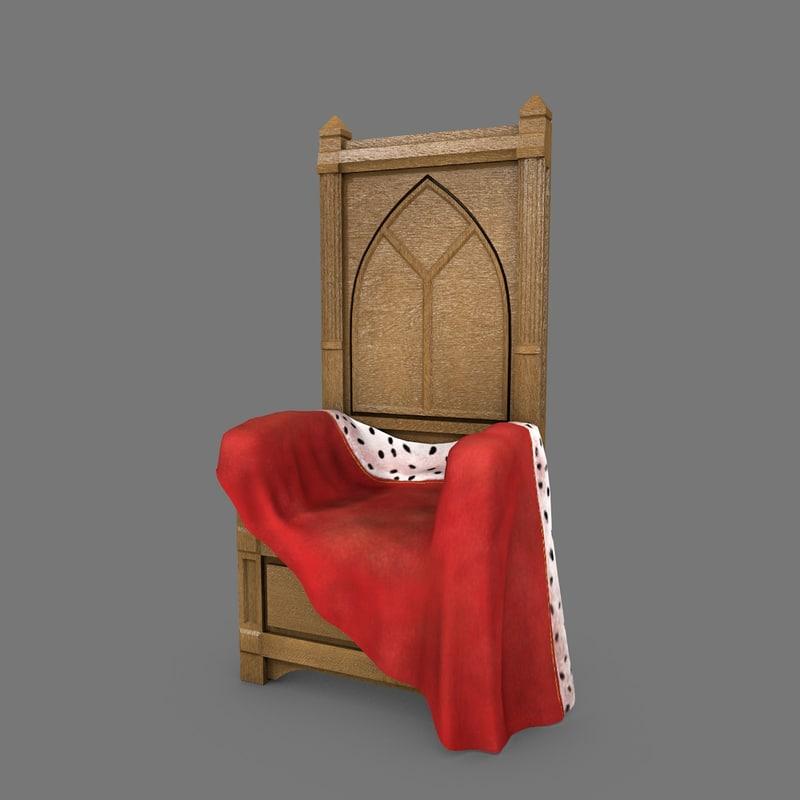 obj wooden throne