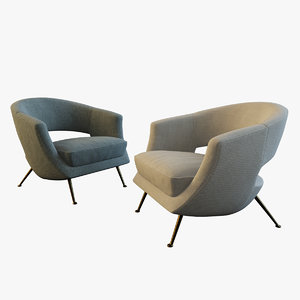 coctail chairs 3d model